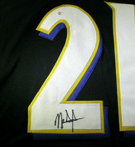 MARK INGRAM / AUTOGRAPHED BALTIMORE RAVENS BLACK CUSTOM FOOTBALL JERSEY / COA image 4