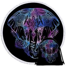 Blue Purple Indian Elephant Beach Towel - $12.32+