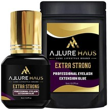 EXTRA STRONG Eyelash Extension Glue by Allure Haus 5ml - 1 Sec Drying - 6-8 Week