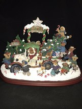 SALE The Danbury Mint The Boyds Bears At Krinkles Tree Farm In Box Rare ... - $118.80