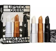 NEW LIPSTICK QUEEN Sugar Spice & All Things Nice FULL SIZE Trio SET $74 ... - $26.99