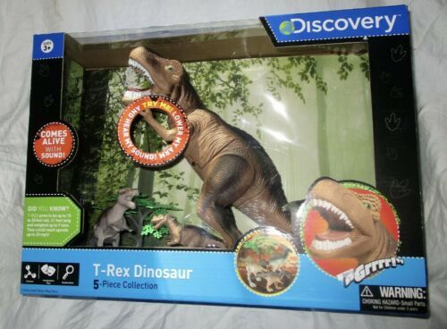 Discovery T-Rex Dinosaur 5 Piece Set featuring lights and sounds NEW - $29.65