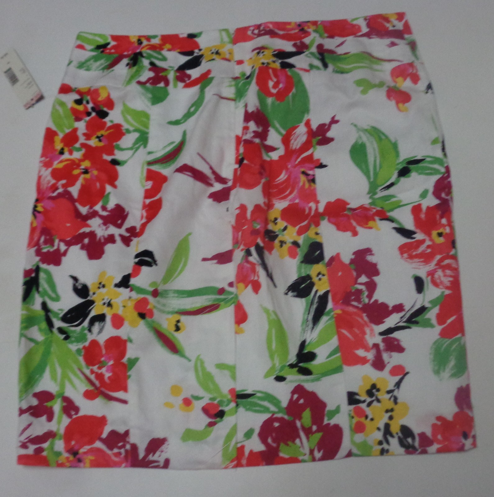Covington Women's Sateen Skirt Sangria NWT Multi-Color Floral SZ 12P