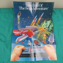 Vintage SEGA MASTER SYSTEM Double Sided Poster (Version 1) - In Good Con... - $9.85