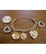 Vintage Estate 14 k Yellow Gold Double Link Charm Bracelet Beautiful 49... - $1,700.00
