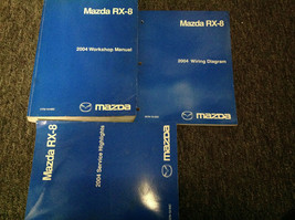2004 Mazda RX-8 RX8 Service Workshop Repair Shop Manual Set W Highlights... - $247.45