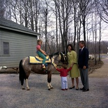President John F. Kennedy and family watch Caroline ride a horse -New 8x... - $8.81