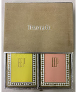 Tiffany & Co.  2 Decks of Playing Cards in Slip Case Holder rare - $32.71
