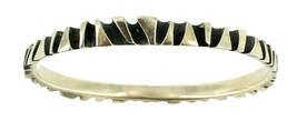 "Rare Vintage Modernist Heavy Organic Abstract Bangle Bracelet Hand Made 8"" image 1"