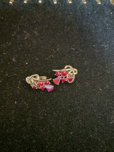 Vintage Estate Stunning Red RHINESTONE/TEARDROP Earrings By Coro - $5.93