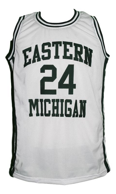 George gervin college basketball jersey white   1