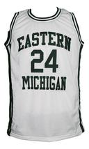 George Gervin #24 College Basketball Jersey Sewn White Any Size image 1