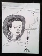 Original Ink wall art Drawing - Cartoon - signed no frame portrait caric... - $39.60