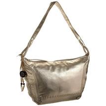 "THE SAK ""FERNWOOD"" WOMEN'S LEATHER HOBO HANDBAG METALIC GOLD TOP ZIP MED... - $149.90"