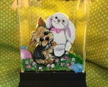 """"""" A FRIEND FOR EASTER"""" YORKIE HAND PAINTED LANTERN SUPER!! - £229.27 GBP"""
