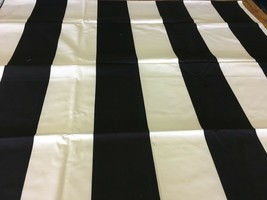 Braemore Wide Black and White Stripe Multi-Purpose Fabric 2.75 yds - $36.57