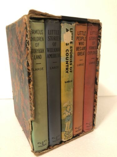 Primary image for Platt & Munk Laura A. Large Book Lot Famous Explorers Well Known Americans Story