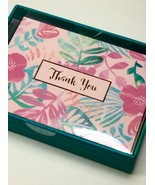 Clementine Boxed Set Of 16 Pink Foil Thank You Blank Note Cards With Env... - $12.20