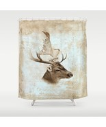 Shower curtains art shower curtain Antique Deer... - $69.99