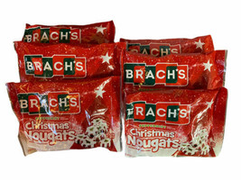 Lot of 6 Brach's Christmas Peppermint Nougat Candy Bags 8 oz EXP 10/2021 - $49.99
