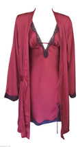 Rouge Gorge Gorgeous High Quality Deep Red Chemise & Matching Wrap - $26.58