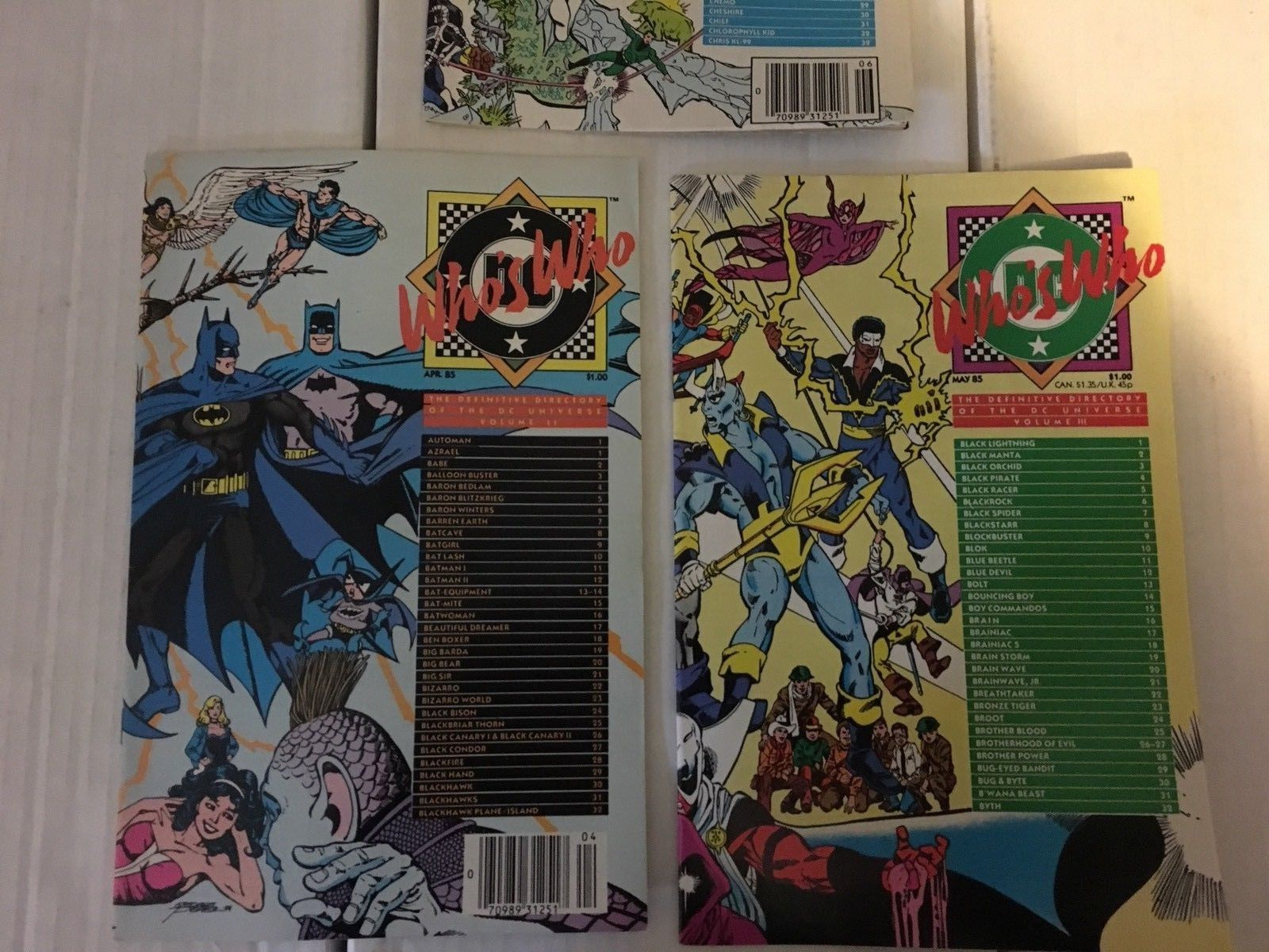 Who's Who #2 3 4 DC Book Lot Of 3 1985 LOT VF+ Condition BatMan