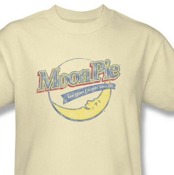 Moon Pie T-shirt 80s retro candy vintage distressed cotton tan tee MPI100