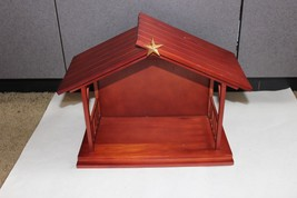 Sanfrancisco music box Cherry Wood Christmas Nativity Manger Star Holy N... - $34.95