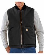 Carhartt Men's Big & Tall Duck Vest Arctic Quilt Lined V01 (4X Tall Black) - $120.81