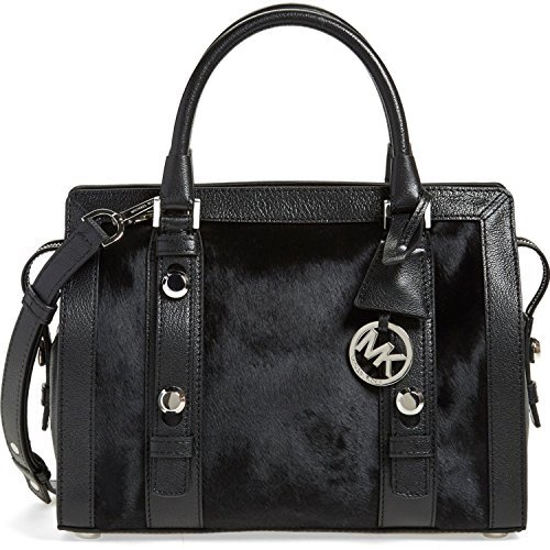 MICHAEL Michael Kors 'Medium Collins' Genuine Calf Hair & Leather Satchel