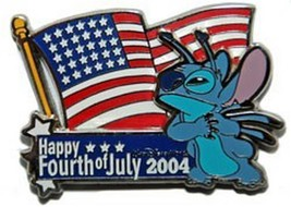 Stitch WDW - 4th of July  Authentic Disney Pin on card - $16.99