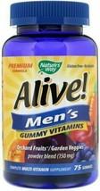 Natures Way Alive Men's Gummy Vitamins Fruit Flavors 75 count - $15.00