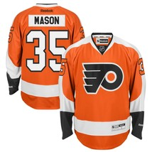 Reebok NHL Philadelphia Flyers MASON RBK Premier HOCKEY Jersey Mens LACE TOP NEW - $99.95