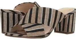 CIRCUS by Sam Edelman STEVIE Women's Sandals Black+Gold Canvas Slides Dr... - $20.99