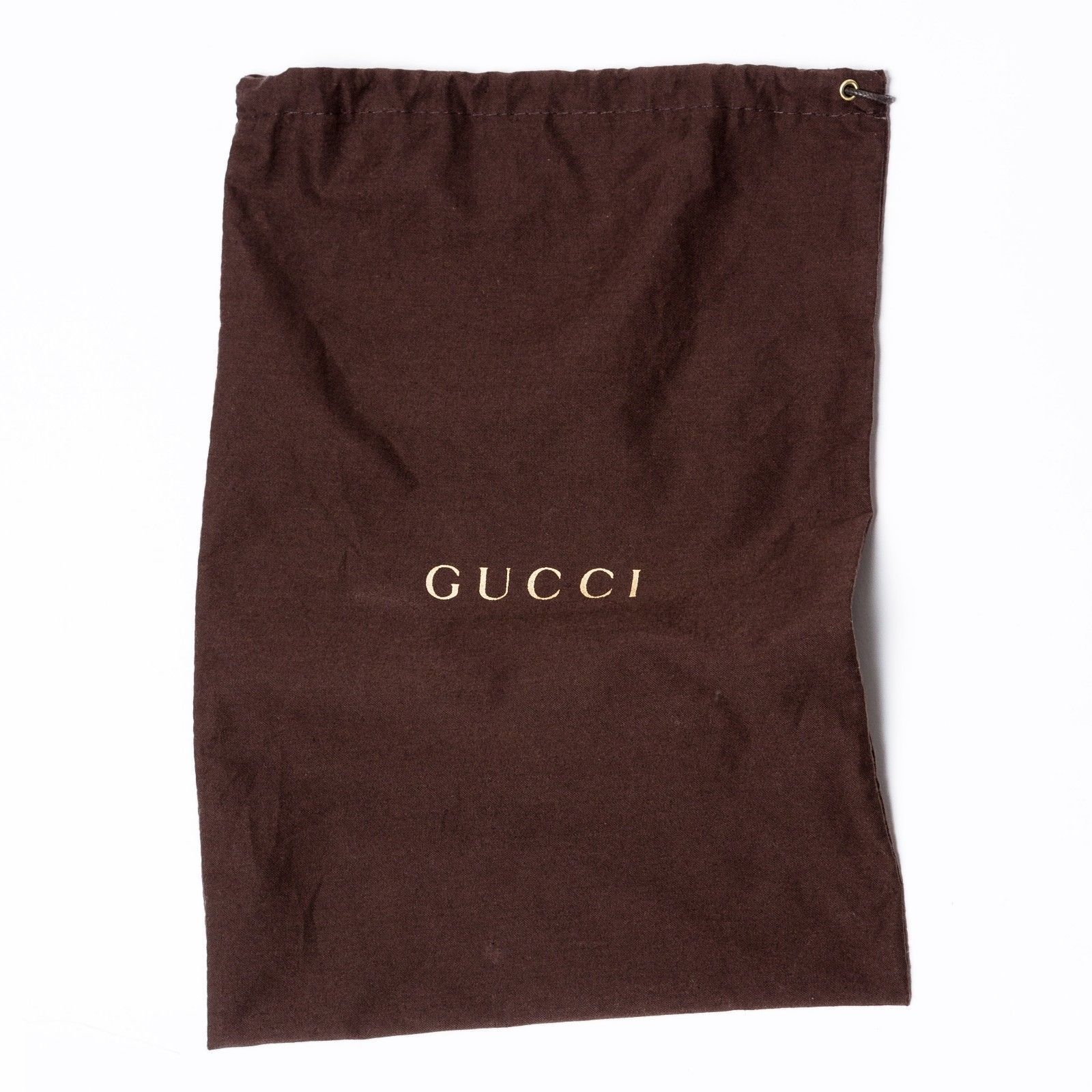 80f145fe9751be GUCCI Brown Cotton Accessory Collection Dust Bag Drawstring Organiser 23 x  35 cm