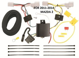 2011-2014 Mazda 2 Trailer Hitch Wiring Kit Harness Plug & Play Direct T-ONE - $60.24