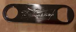 "BUDWEISER STAINLESS STEEL BOTTLE OPENER - 5"" Long - $4.99"