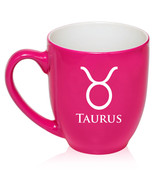 16oz Bistro Mug Coffee Glass Tea Cup Zodiac Horoscope Birth Sign Taurus - $14.99