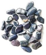 22-32 Pcs Blue Moon Quartz, Dumortierite, Blue Denim, Tumbled 1/4 Lb Bul... - $15.63