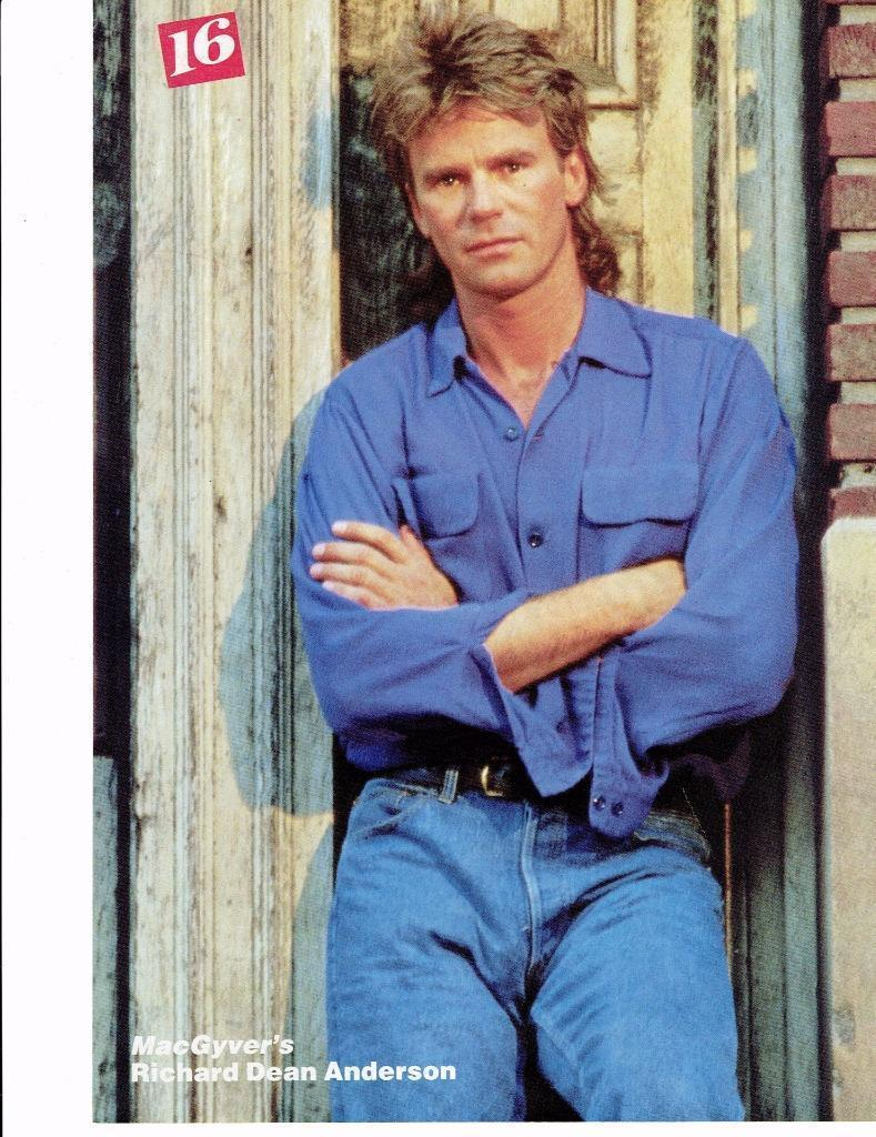 Richard Dean Anderson teen magazine pinup clipping MacGyver's Tiger Beat Bop
