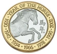 Artischocke Joe's Silber Casino Token in Messing Jahr des Pferd - $49.50