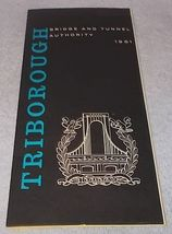 New York City Triborough Bridge and Tunnel Authority Map and Guide 1961  - $9.95