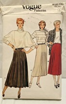 1970's Vogue Sewing Pattern #9139 Misses' Flared Skirt Pleat Size 16..UNCUT - $6.88