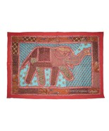 Indian Elephant Patchwork Wall Hanging Throw Tapestry Table Runner X-Mas... - $17.81