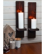 Pair Rustic Candle Holder or Wall Sconces, Rustic Home Decor Candle, Far... - $37.99