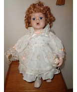 Blowing Bubbles Porcelain Doll with Wand & Bubbles and Seat To Sit On 15... - £29.08 GBP