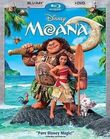 Disney Moana (2017, Blu-ray/DVD)