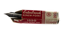 Vtg New Esterbrook Solid Duracrome Renew Point 1550 Firm Extra Fine - $17.77