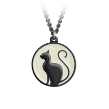 Meow at the Moon Pendant by Alchemy Gothic - $21.00