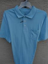 NWT MENS SADDLEBRED S/S COTTON BLEND  JERSEY KNIT POLO SHIRT SKY BLUE XL - $12.19